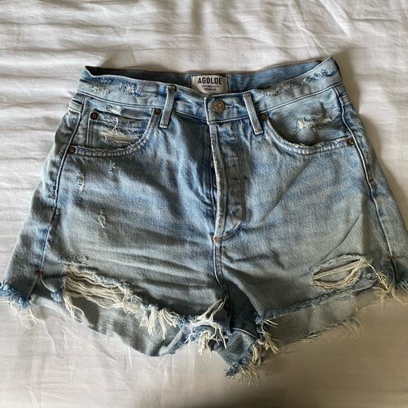 Agolde denim shorts worn once
